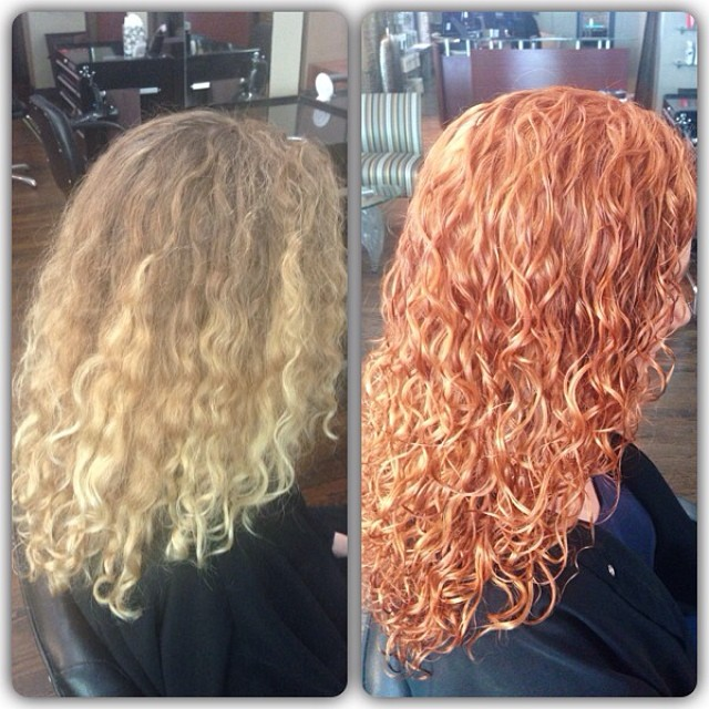 Who says #blondes have more fun?  #devacurl #goldcoast #goldwell @salono65 @jennishanahan